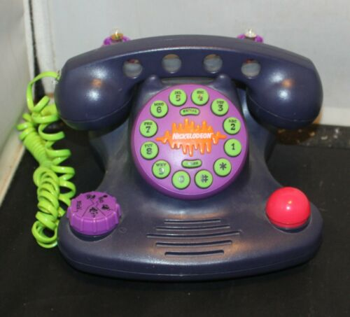 1990s Nickelodeon Talk Blaster Land Line Telephone Purple Parts/Repair Only