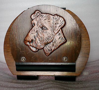 Art Deco letter rack wall hanging Scotty dog made in Belgium.