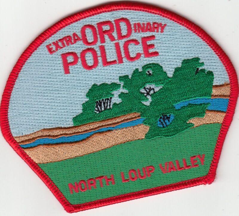 NORTH LOUP VALLEY POLICE SHOULDER PATCH NEBRASKA NE