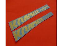 Kramer American Pyramid Black Waterslide Headstock Decal