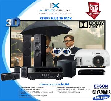YAMAHA ATMOS PLUS 3D HOME THEATRE PACKAGE - $4999 XMAS DEAL