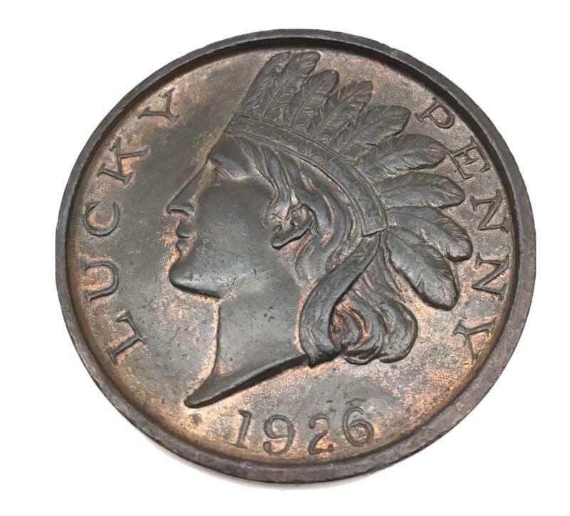 Large Lucky Penny Medallion Souvenir of Liberty Bell 1926 Philadelphia