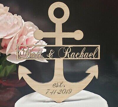 Anchor Cake Topper (anchor wedding cake topper, Nautical Anchor Wedding Topper, nautical)