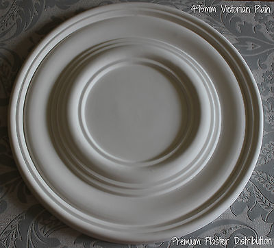 """X1Plaster Ceiling Rose Plain Traditional Victorian Design 495 mm / 20"""" Hand Made"""