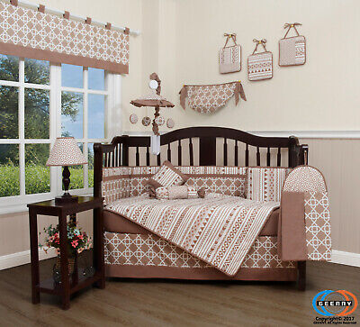 13PCS Bohemia Geometry Baby Nursery Crib Bedding Sets  Holiday Special