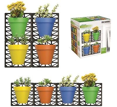 Wall Mount Planter Set Outdoor Indoor Set Colored Pots Waterproof And Fade Proof
