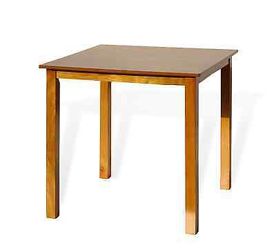 Modern Square Dining Kitchen Table in Maple Finish