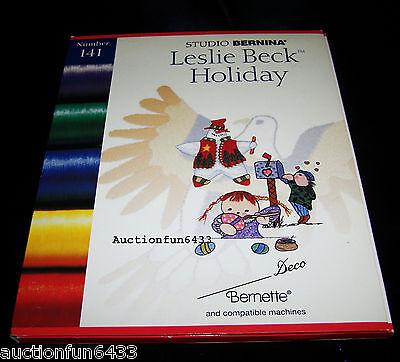 Studio Bernina Brother BabyLock Embroidery Machine Card 141 Leslie Beck Holiday