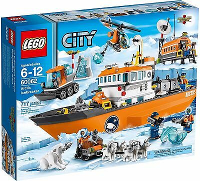 LEGO Arctic Icebreaker 60062 Husky Dogsled Polar Bear Boat - Brand New & Sealed!