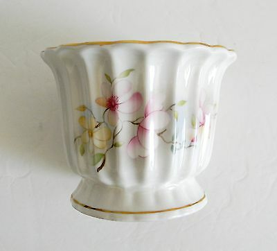 England bone china vase wirh gold and floral designs