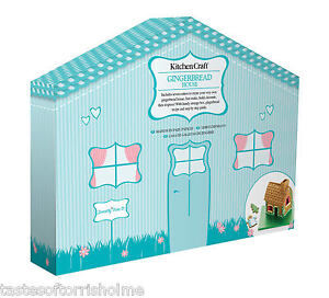 Kitchen Craft Christmas Gingerbread Man House Biscuit & Pastry Cutter Gift Set