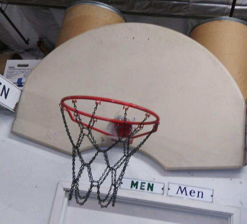 Basketball Chain Net black powder coated steel. Standard size.  . .