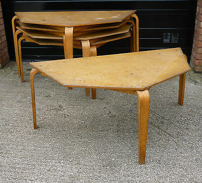 Vintage 'Alvar Aalto' Style Stacking School Work Table