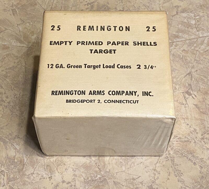 Remington EMPTY PROMED PAPER SHELLS 12ga Green Target Full Sealed 2 Piece Box