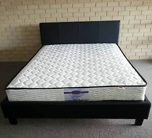 Quality Queen PU Bed Frame and Pocketsprung Mattress Bayswater Bayswater Area Preview
