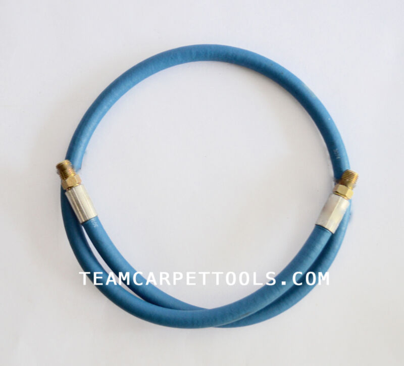 """Carpet Cleaning Wands 41"""" of Blue Solution Line Hose 3000 PSI 1/4"""" Male x Male"""