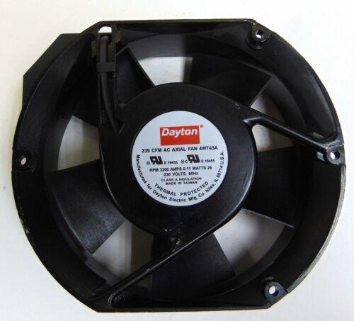 DAYTON 239 CFM AC AXIAL FAN 4WT43A, 3200 RPM 60HZ, 230V 26 WATTS MADE IN TAIWAN