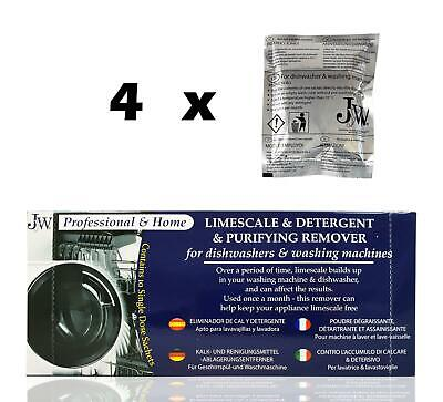 LIMESCALE AND DETERGENT REMOVER - 4 APPLICATIONS FOR DISWASHER & WASHING MACHINE