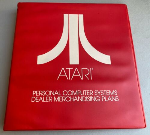 Rare Atari Corporate Personal Computer Systems Dealer Merchandising Plans Binder
