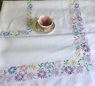 Diameter 68-170 cm POLKA DOTS on Green ROUND Handmade Tablecloth