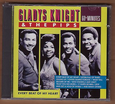 Gladys Knight  Pips Cd  Every Beat Of My Heart  1990 Belgium Import New 24 Track