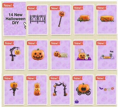 Animal ALL Halloween NEW ITEMS plus DIYs Crossing Pumpkin