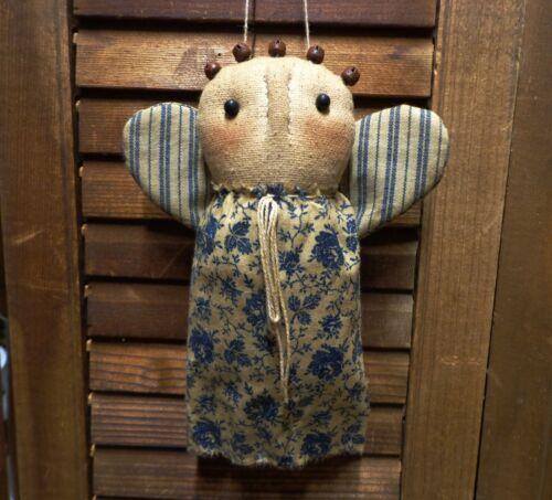 Primitive  Angel Ornie*Bowl Filler*Cupboard Tuck*Folk Art*Blue Rose*
