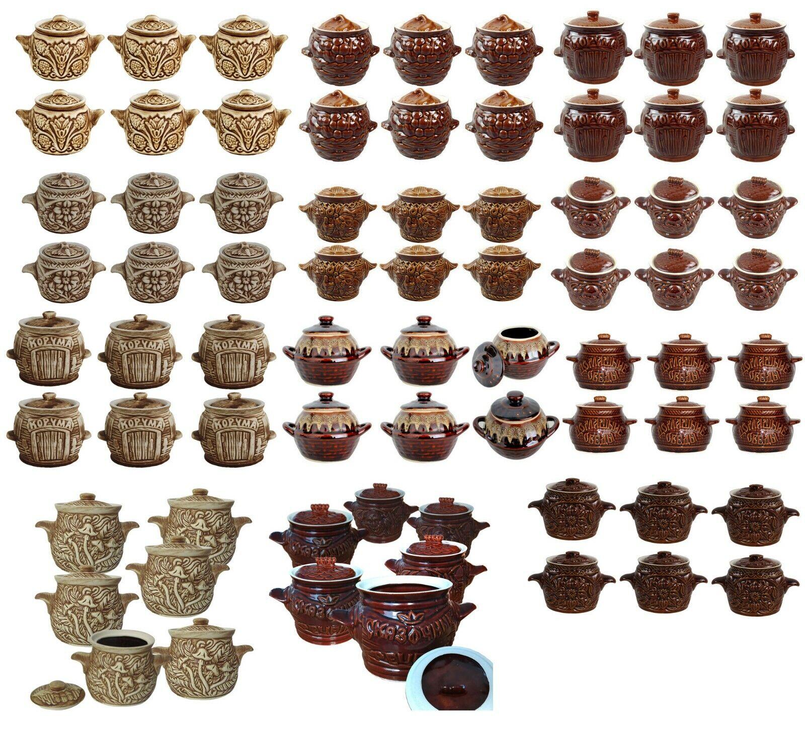 6 Stück Schmortopf Keramik Auflauftopf Kochtopf Auflaufform Gartopf Topf