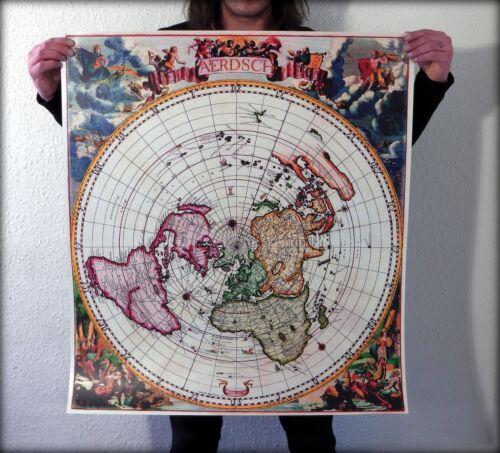 Flat+Earth+Map%3A+Jacobus+Robijn+1700+-+%27Nieuw+Aerdsch+Pleyn%27+-+%2833x30inch%29