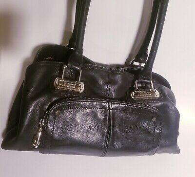 B. MAKOWSKY large leather Black handbag Purse Tote Bag