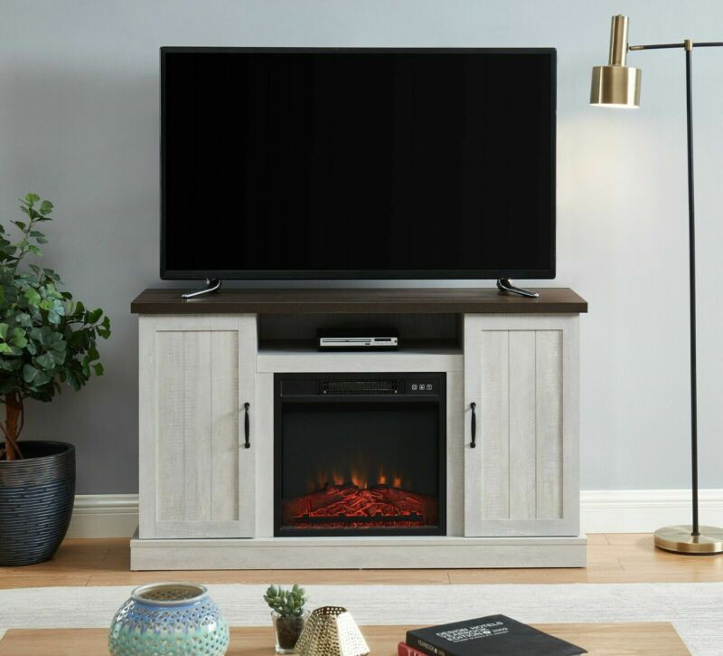 """Electric Fireplace TV Stand Media Storage Television Console Shelves for 58"""" TVs"""