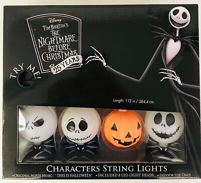 Disney Halloween Movie Characters (Nightmare Before Christmas Disney Characters String Lights 25 Years)