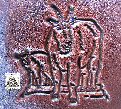 Baby Goat Leather - Vintage Midas Mountain Goat With Baby Kid 1