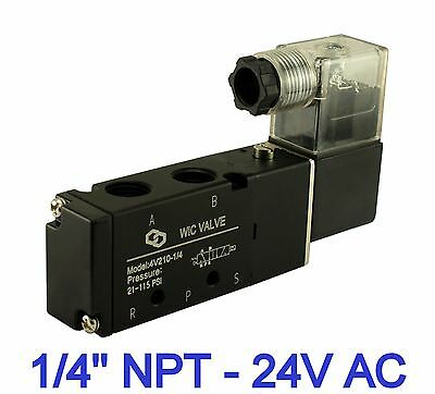 Pneumatic Air Directional Control Solenoid Valve 4 Way 2 Position 24v Ac 14