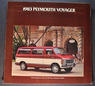 1983 Plymouth Voyager Wagon Van Sales Brochure Folder Excellent Original - 1983 Plymouth Van Wagon