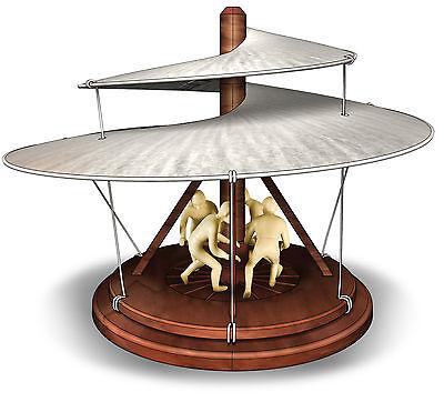 NEU Leonardo da Vinci Luftschrauber Modell Bausatz Vorläufer des Hubschraubers