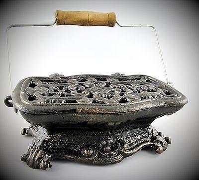 Stövchen Speisenwärmer Antik Jugendstil Dekor Küche Tisch Grog Topfuntersetzer
