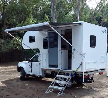 New light weight slideon camper Spacious modern interior