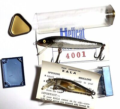 """VINTAGE WHOPPER STOPPER 3-1//2/"""" JOINTED LIZARD LURE MARKED LIP NIB USA MADE"""