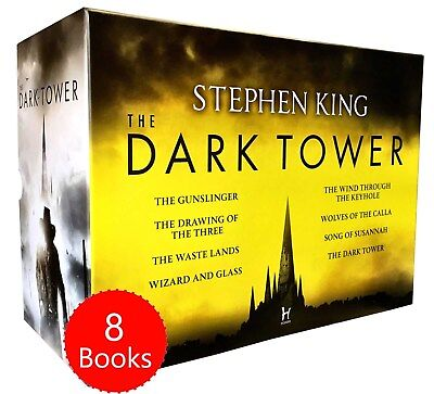 Stephen King The Dark Tower Series 8 Books Collection Set Gunslinger,Wizard and