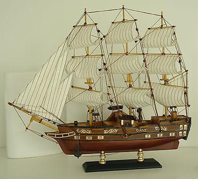 Raddampfer,Holz mit Stoffsegel, Segelboot, Fregatte Dampfer Maritim 1615 Neu