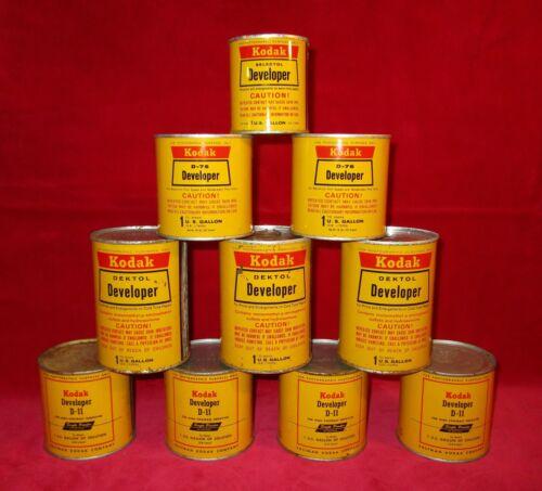 Vintage Kodak Developer Chemicals - Full Sealed (lot of 10)