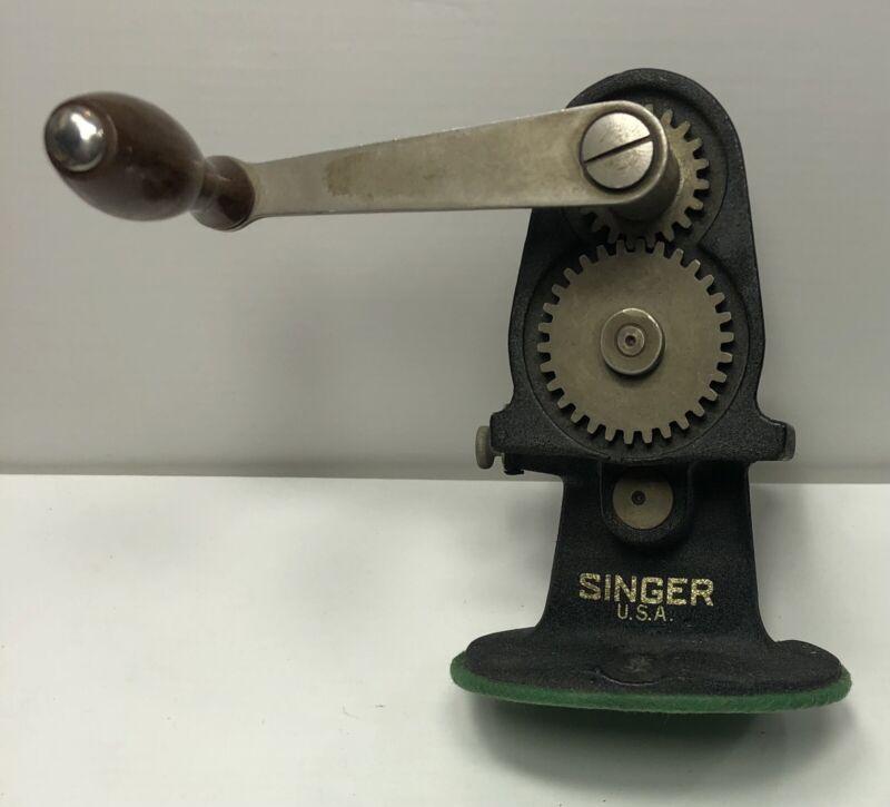 vintage Singer hand crank Pinking Machine
