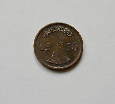 WEIMAR: 2 Reichspfennig 1936 E, J. 314, prägefrisch/unc. !!!   II.   SELTEN !!!