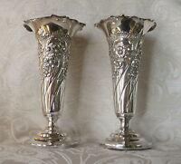 Vasi Porta Fiori Sheffield Electroplate Epbm J. Dixon C1880 Pair Of Posy Vases -  - ebay.it
