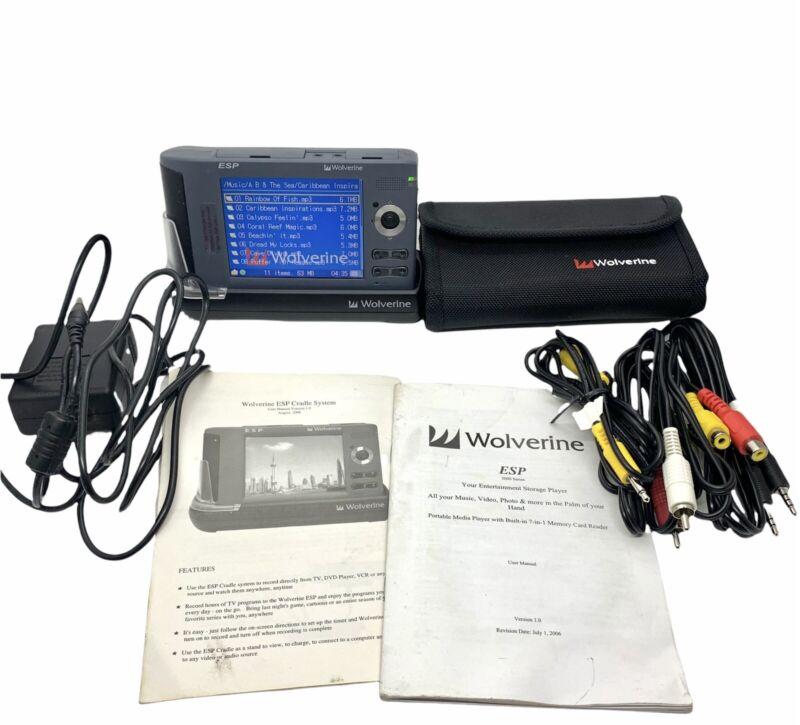 "Wolverine ESP 5000 Portable Multimedia Storage & Player 80 GB 3.6"" LCD W/ Extras"