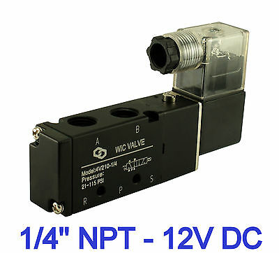 Directional Control Electric Solenoid Air Valve 4 Way 2 Position 14 Inch 12v Dc