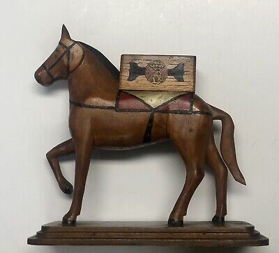 Vintage Hand-Carved Guatemalan Horse Figure
