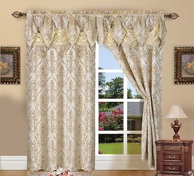 Window Curtains 84 Inch Long Curtain Panels Set Of 2 Drapes For Living Room NEW 84' Long Curtain Drapery