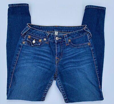 True Religion $189 Flap Pocket Skinny Jean Legging | Women's Size 30 Flap Pocket Skinny Jean